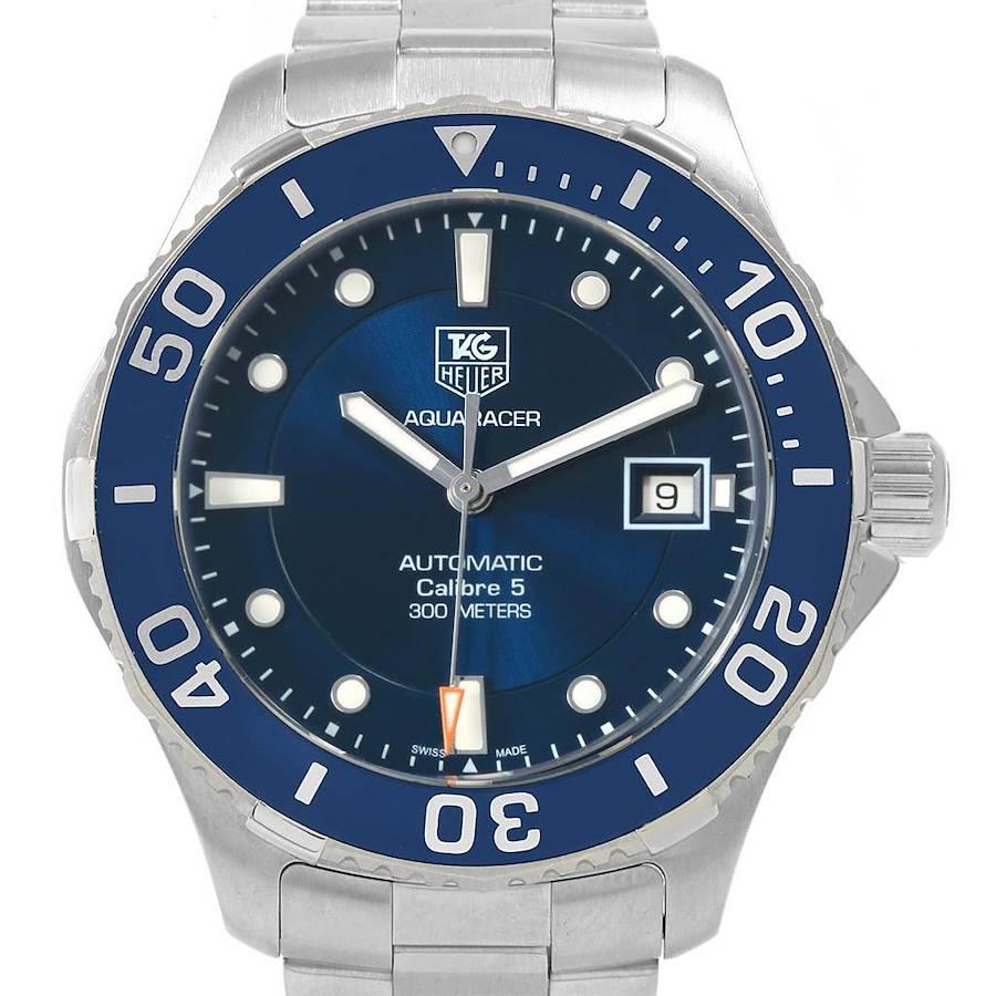 Tag Heuer Aquaracer Blue Dial Steel Mens Watch WAN2111 SwissWatchExpo