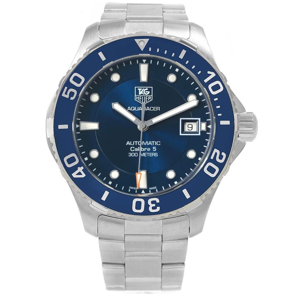 4002d629f55 ... 18434 Tag Heuer Aquaracer Blue Dial Steel Mens Watch WAN2111  SwissWatchExpo ...
