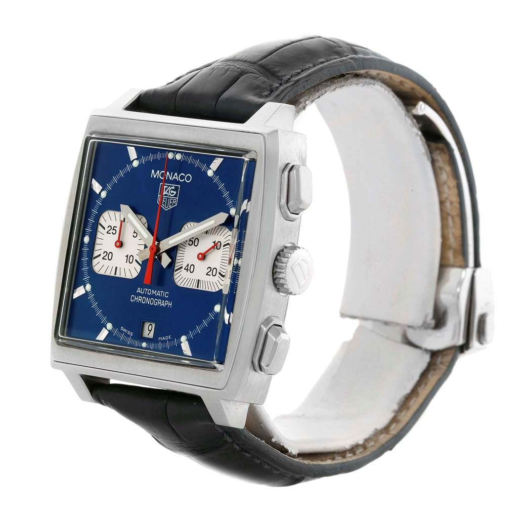 18589S Tag Heuer Monaco Automatic Chronograph Mens Watch CW2113 SwissWatchExpo