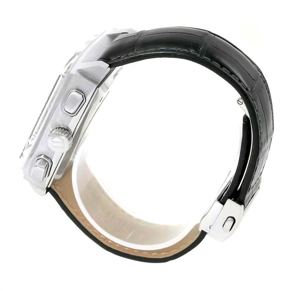 18705 Tag Heuer Monaco Calibre 12 Blue Dial Chronograph Watch CAW2111 SwissWatchExpo