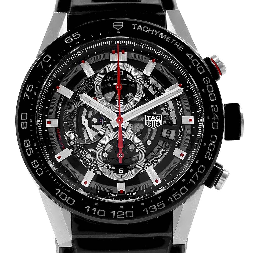 ebcec557587 ... 18613 TAG Heuer Carrera Calibre Heuer 01 Skeleton Dial Watch CAR2B80  Unworn SwissWatchExpo ...