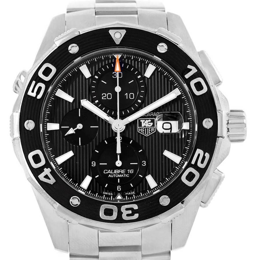 Tag Heuer Aquaracer Black Dial Stainless Steel Mens Watch CAJ2110 SwissWatchExpo