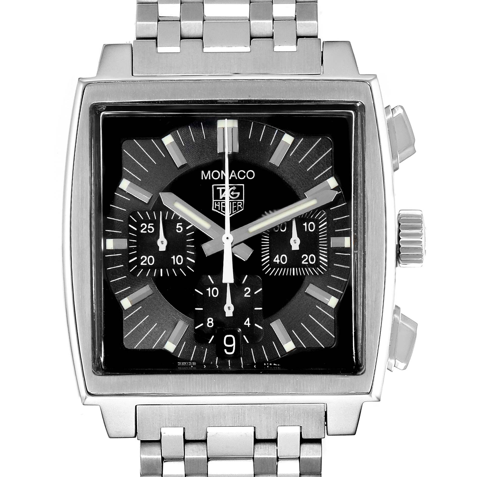 Tag Heuer Monaco Automatic Steel Mens Watch CW2111 SwissWatchExpo