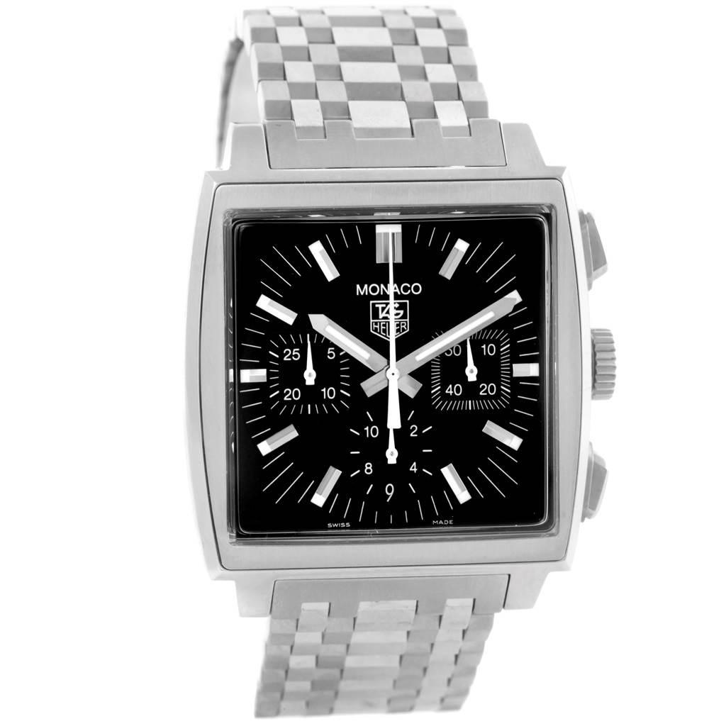 18616 Tag Heuer Monaco Automatic Steel Mens Watch CW2111 SwissWatchExpo