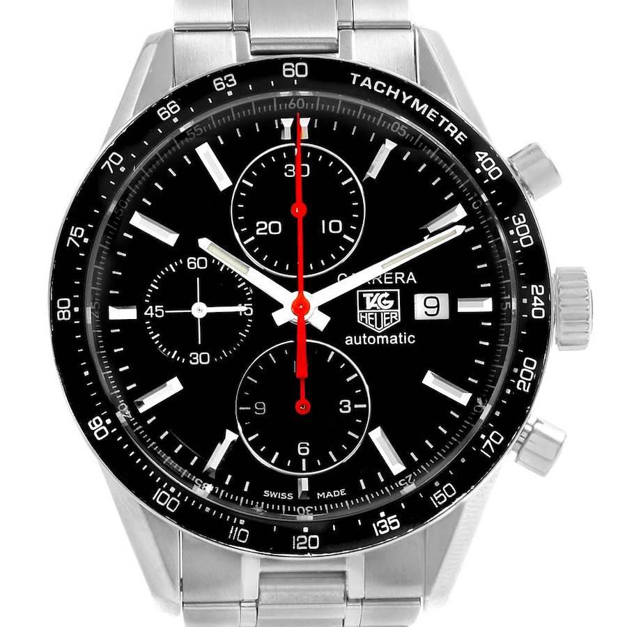 Tag Heuer Carrera Black Dial Chronograph Mens Watch CV2014 SwissWatchExpo