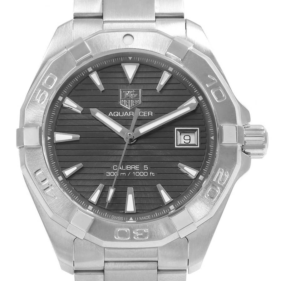 Tag Heuer Aquaracer Grey Dial Stainless Steel Mens Watch WAY2113 SwissWatchExpo