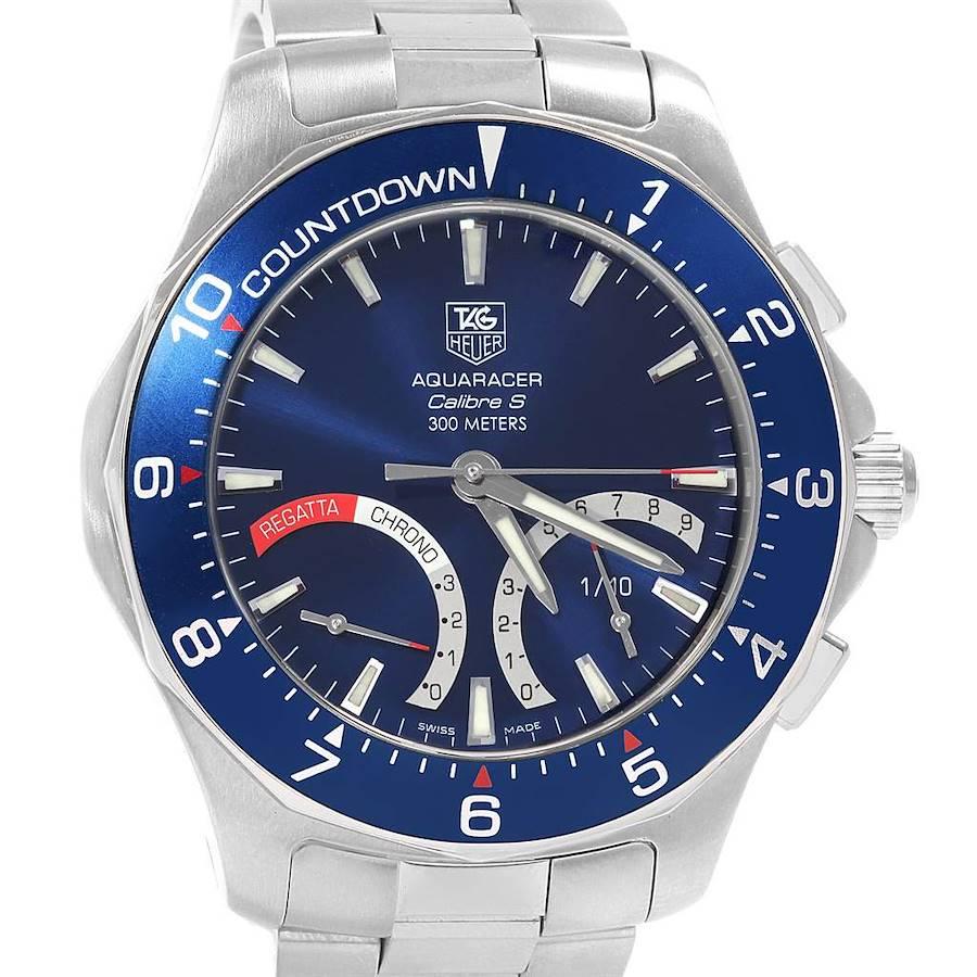 Tag Heuer Aquaracer Calibre S Regatta Blue Dial Mens Watch CAF7110 SwissWatchExpo