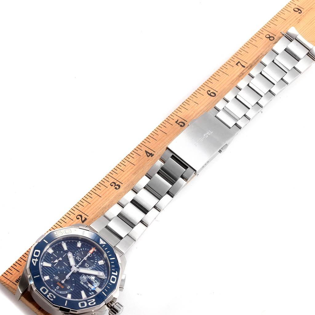 Tag Heuer Aquaracer Blue Dial Chronograph Steel Mens Watch CAY211B SwissWatchExpo