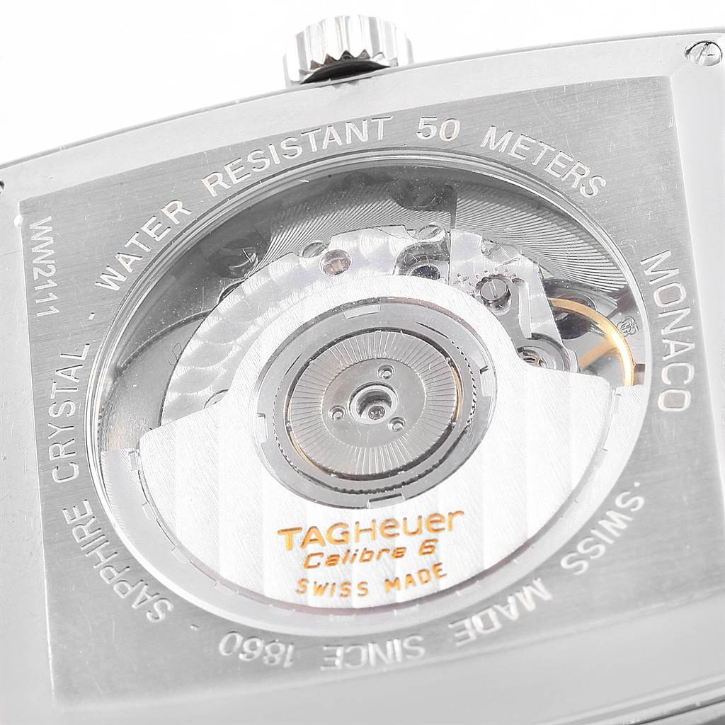 16536 Tag Heuer Monaco Calibre 6 Blue Dial Automatic Mens Watch WW2111 SwissWatchExpo