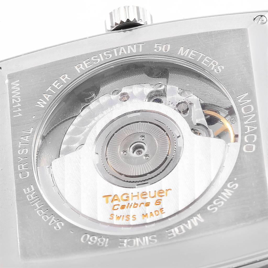 Tag Heuer Monaco Calibre 6 Blue Dial Automatic Mens Watch WW2111 SwissWatchExpo