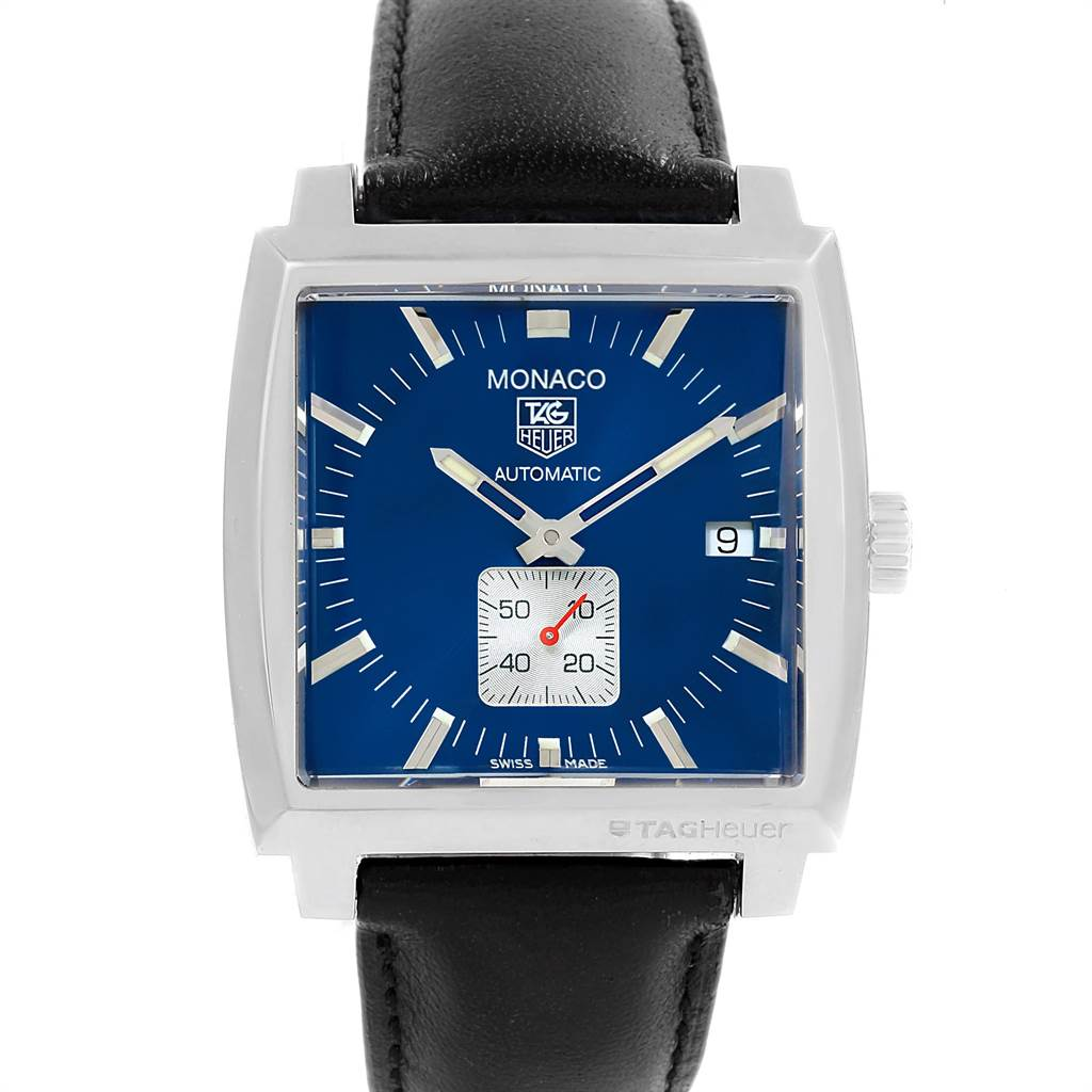 Photo of Tag Heuer Monaco Calibre 6 Blue Dial Automatic Mens Watch WW2111
