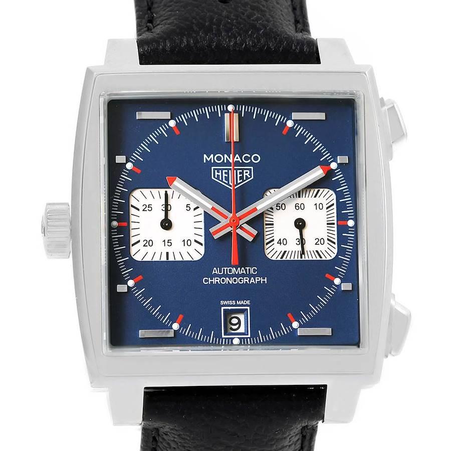 Tag Heuer Monaco Chronograph Mens Watch CAW211P Box Card SwissWatchExpo