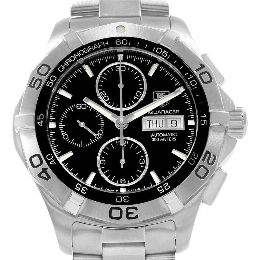 Tag Heuer Aquaracer Calibre 16 Day-Date Chronograph Mens Watch CAF2010 SwissWatchExpo