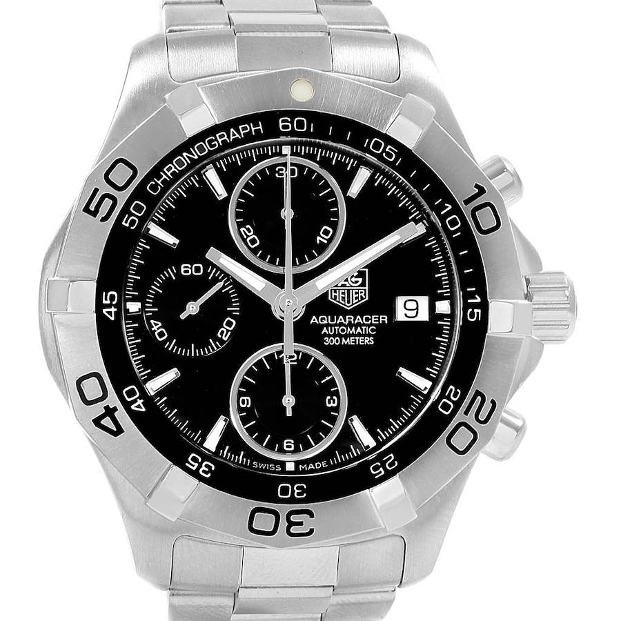Tag Heuer Aquaracer Black Dial Chronograph Mens Watch CAF2110 SwissWatchExpo
