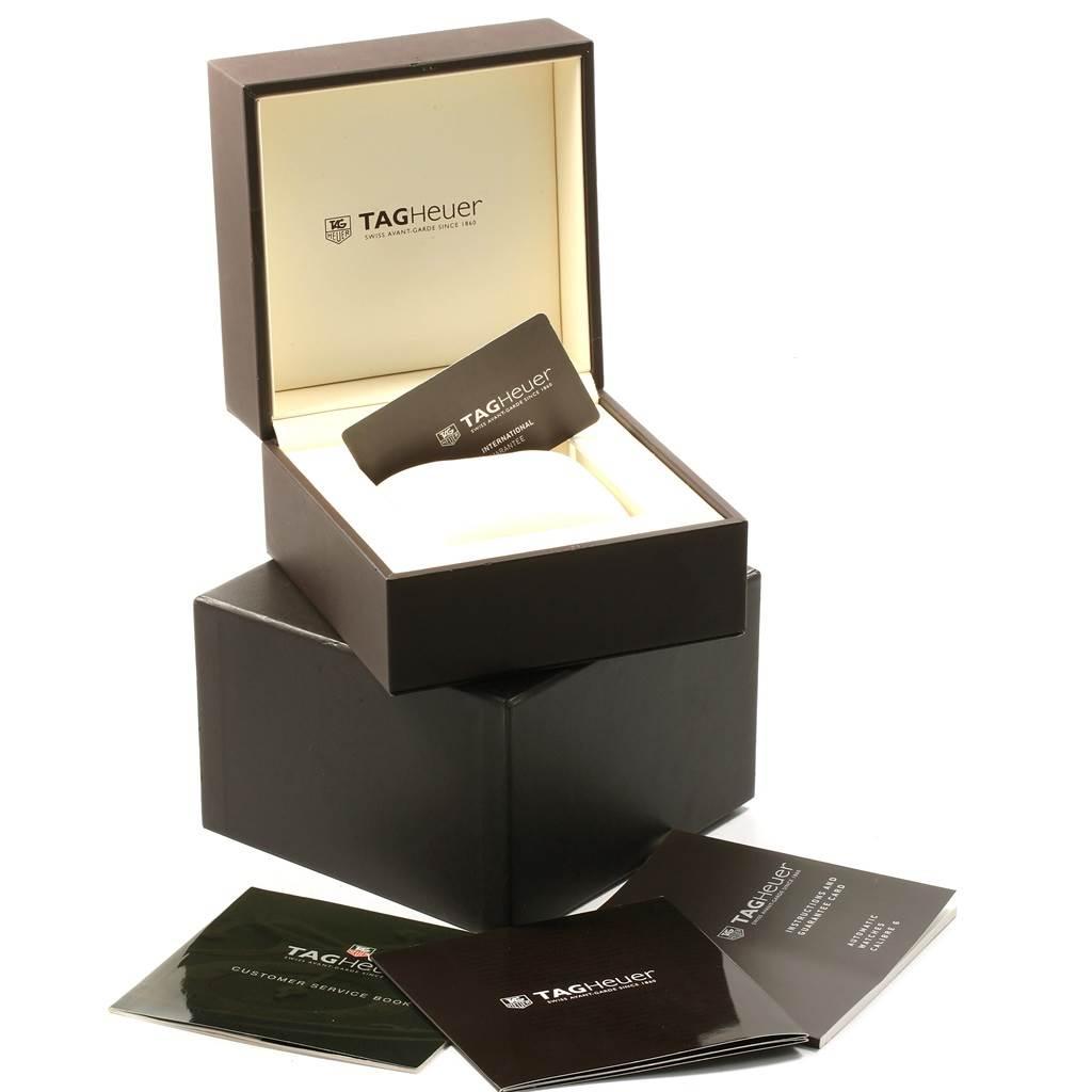 19687 Tag Heuer Monaco Black Red Leather Strap Mens Watch WW2119 Box Card SwissWatchExpo