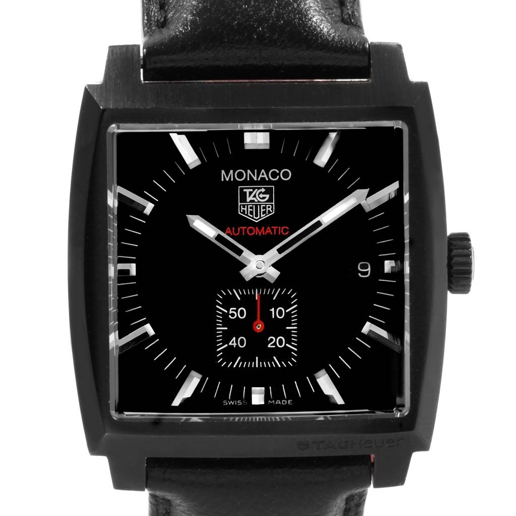 19924 Tag Heuer Monaco Titanium Carbide Steel Mens Watch WW2119 Box Card SwissWatchExpo