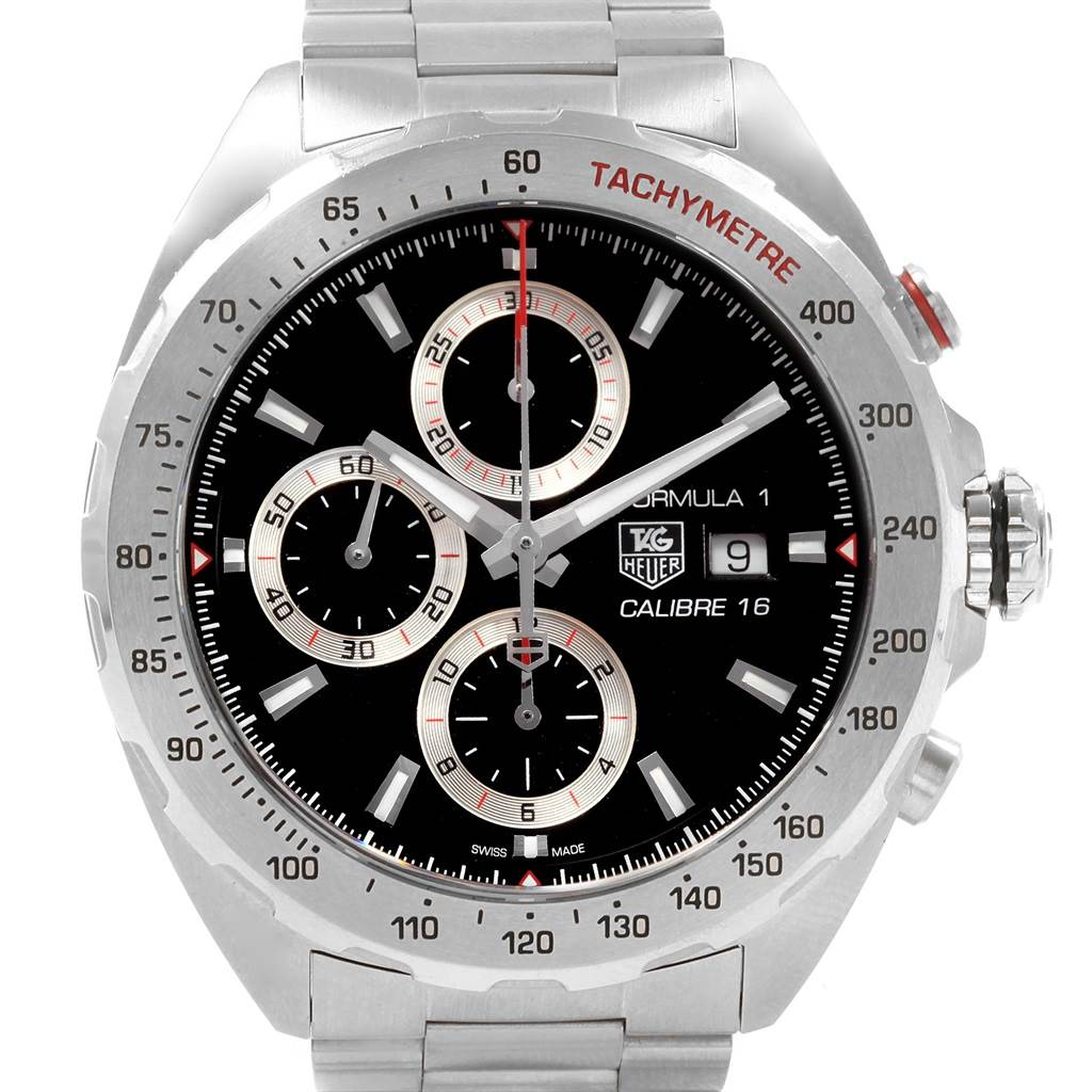 19709 Tag Heuer Formula 1 Chronograph Steel Mens Watch CAZ2010 Card SwissWatchExpo