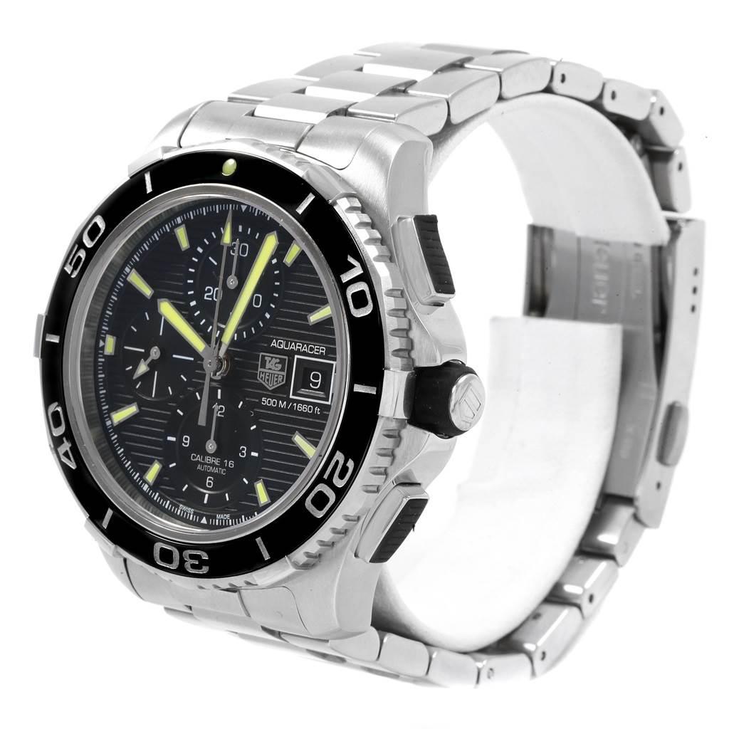 20299 Tag Heuer Aquaracer Chronograph Steel Mens Watch CAK2111 Box Card SwissWatchExpo
