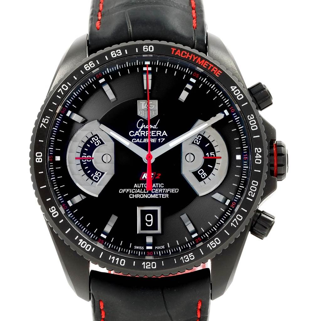 20405 Tag Heuer Grand Carrera Black PVD Mens Watch CAV518B SwissWatchExpo