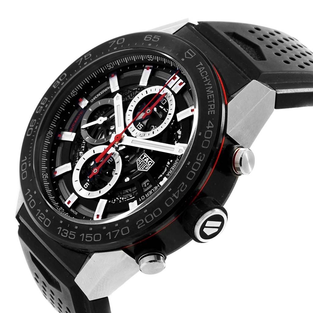 20456 TAG Heuer Carrera Calibre Heuer 01 Skeleton Dial Mens Watch CAR2A1Z SwissWatchExpo