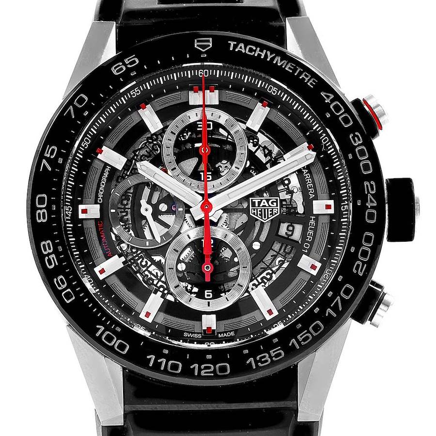 TAG Heuer Carrera Calibre Heuer 01 Skeleton Dial Mens Watch CAR2A1Z SwissWatchExpo