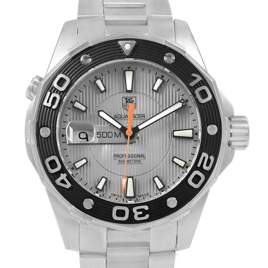 Tag Heuer Aquaracer Grey Dial Steel Mens Watch WAJ1111 SwissWatchExpo