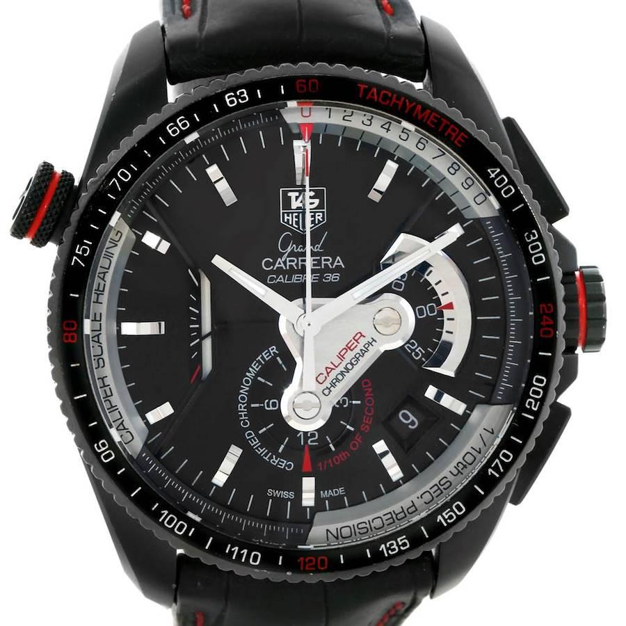 Tag Heuer Grand Carrera 36 RS Caliper PVD Titanium Watch CAV5185.FC6237 SwissWatchExpo