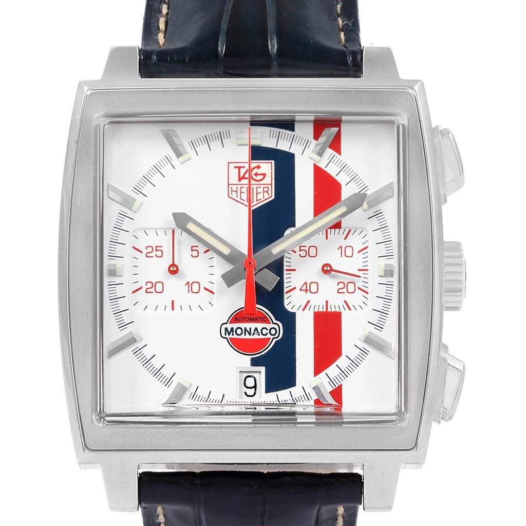 20930 Tag Heuer Monaco McQueen Chronograph Limited Edition Watch CW2118 SwissWatchExpo