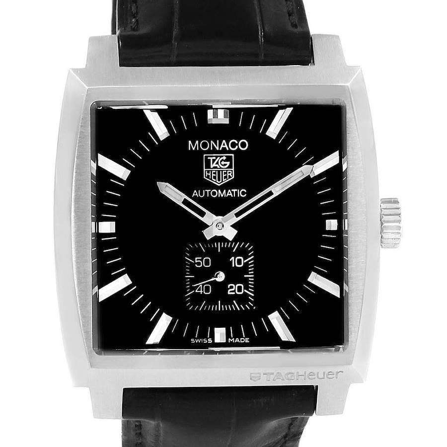 Tag Heuer Monaco Leather Strap Automatic Mens Watch WW2110 SwissWatchExpo
