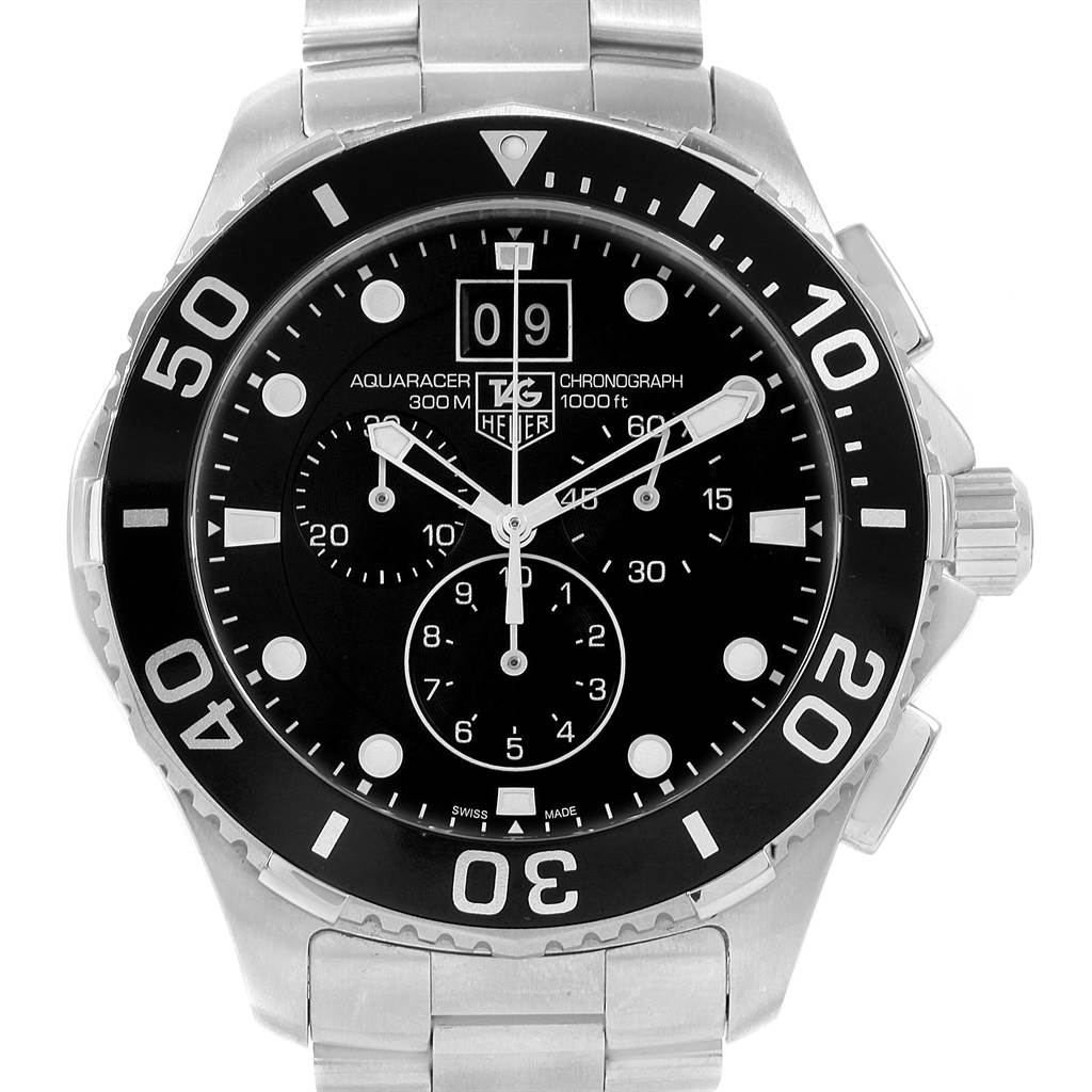 20725X Tag Heuer Aquaracer Chronograph Steel Mens Watch CAN1010  SwissWatchExpo