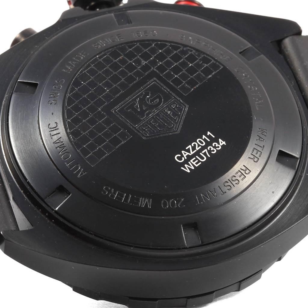 21124 Tag Heuer Formula One Chronograph Black Dial Mens Watch CAZ2011 Unworn SwissWatchExpo