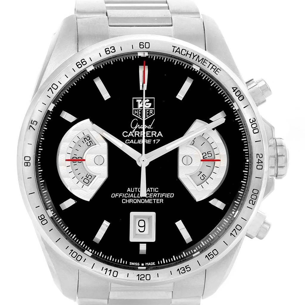 11611 Tag Heuer Grand Carrera Black Dial Automatic Mens Watch CAV511A SwissWatchExpo