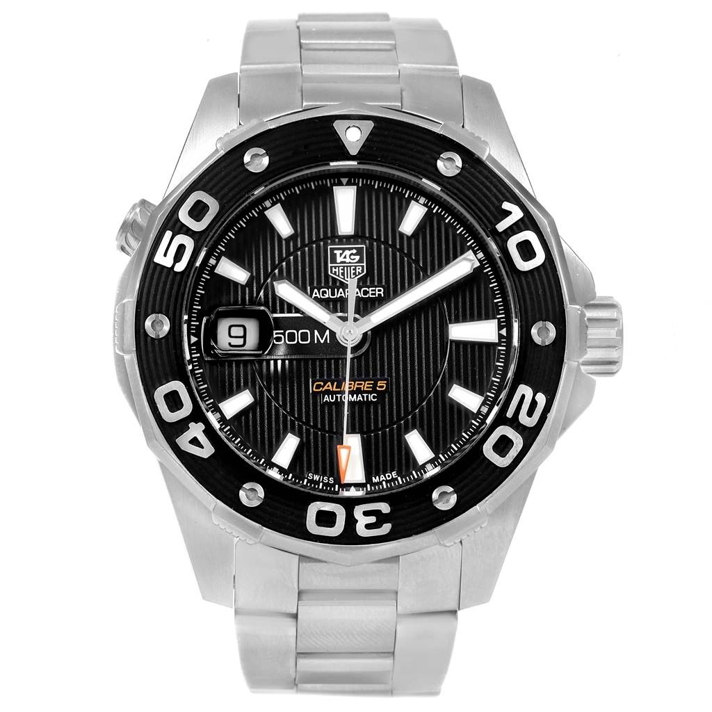 19711 Tag Heuer Aquaracer Calibre 5 500M Steel Mens Watch WAJ2110 SwissWatchExpo