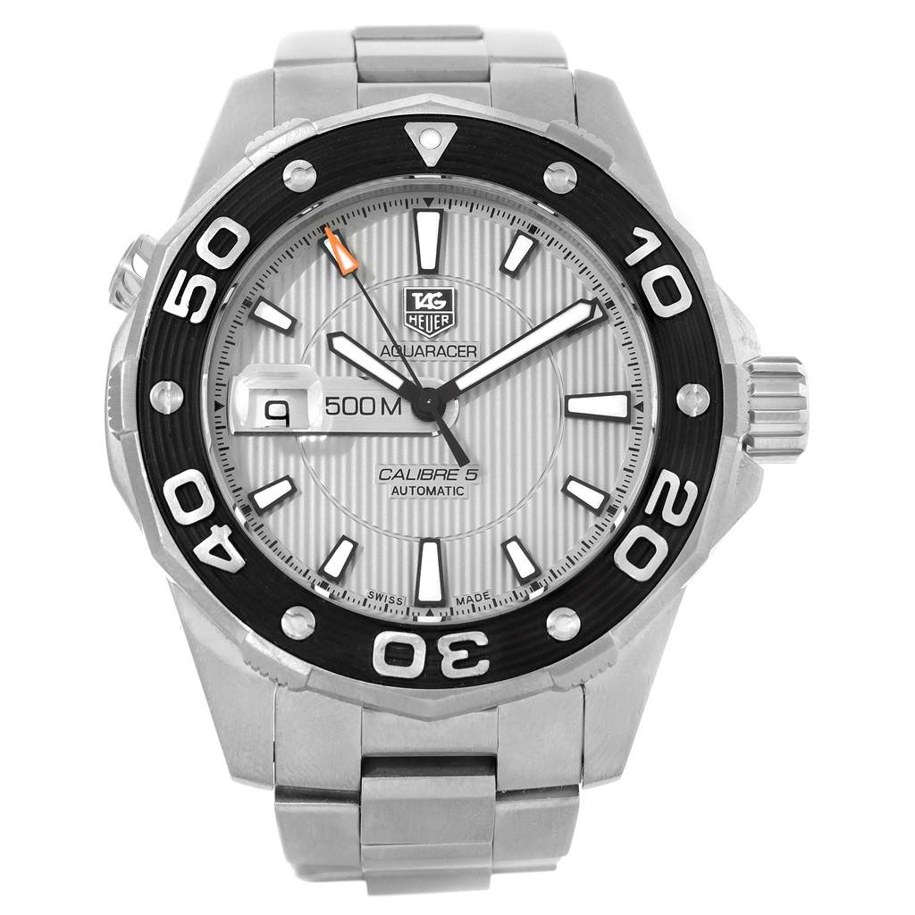 21072 Tag Heuer Aquaracer 2000 Stainless Steel Mens Watch WAJ2111 SwissWatchExpo