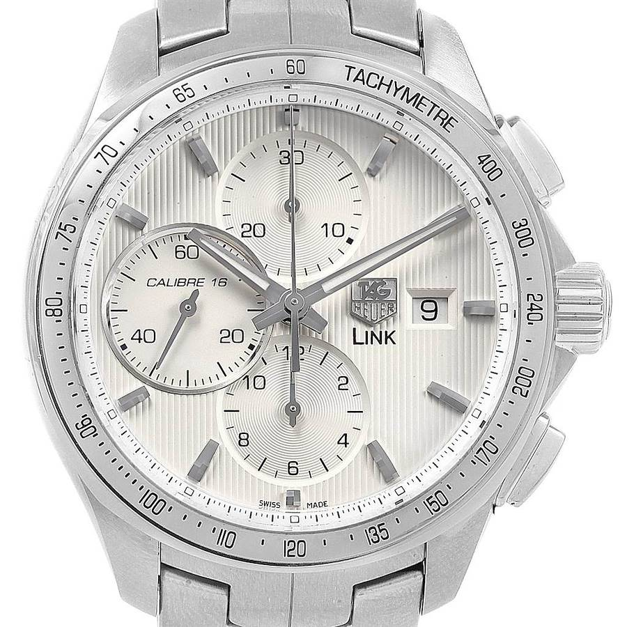 TAG Heuer Link Steel Silver Dial Chronograph Mens Watch CAT2011 SwissWatchExpo