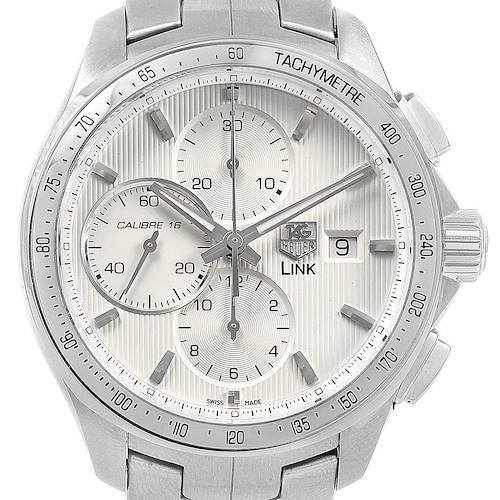 Photo of TAG Heuer Link Steel Silver Dial Chronograph Mens Watch CAT2011