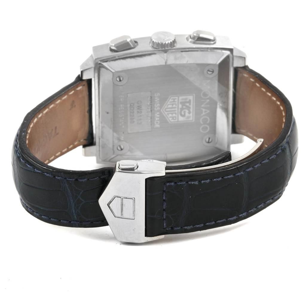 Tag Heuer Monaco Blue Dial Automatic Chronograph Mens Watch CW2113 SwissWatchExpo