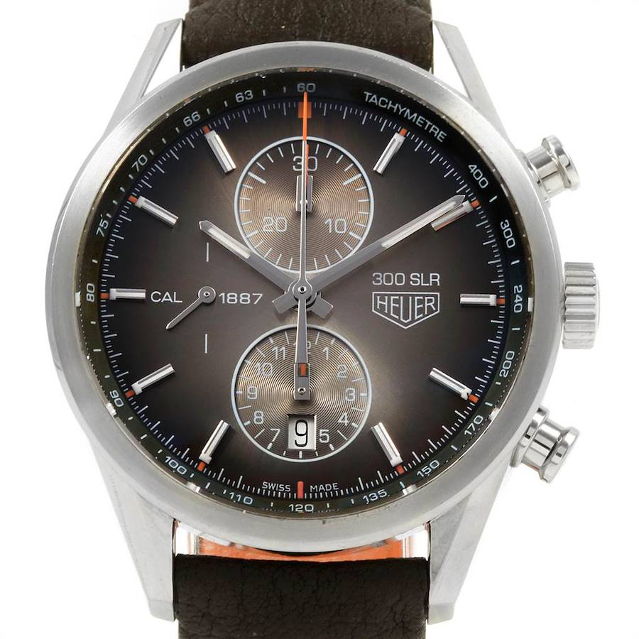 Tag Heuer Carrera 300 SLR Brown Dial Chronograph Watch CAR2112 SwissWatchExpo