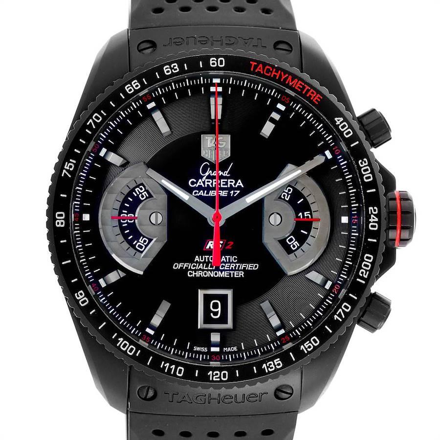 Tag Heuer Grand Carrera Black PVD Mens Watch CAV518B Box Card SwissWatchExpo
