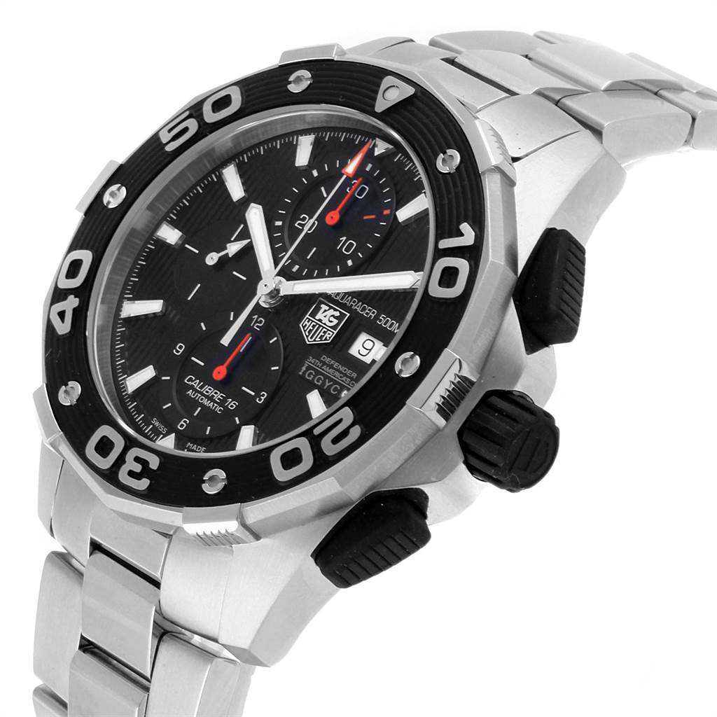 22001 Tag Heuer Aquaracer 500 Oracle Team Cronograph Mens Watch CAJ2112 SwissWatchExpo