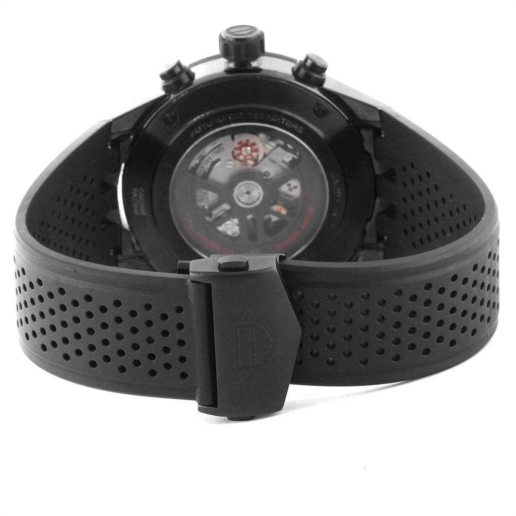 Tag Heuer Carrera Black Ceramic Chronograph Watch CAR2A90 Box Papers SwissWatchExpo