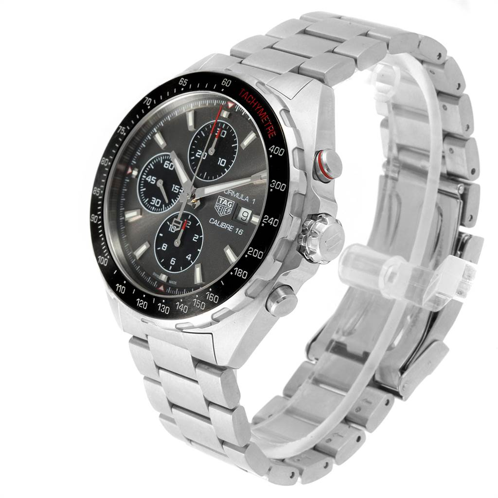 22416 Tag Heuer Formula 1 Calibre 16 Chronograph Mens Watch CAZ2012 Box SwissWatchExpo