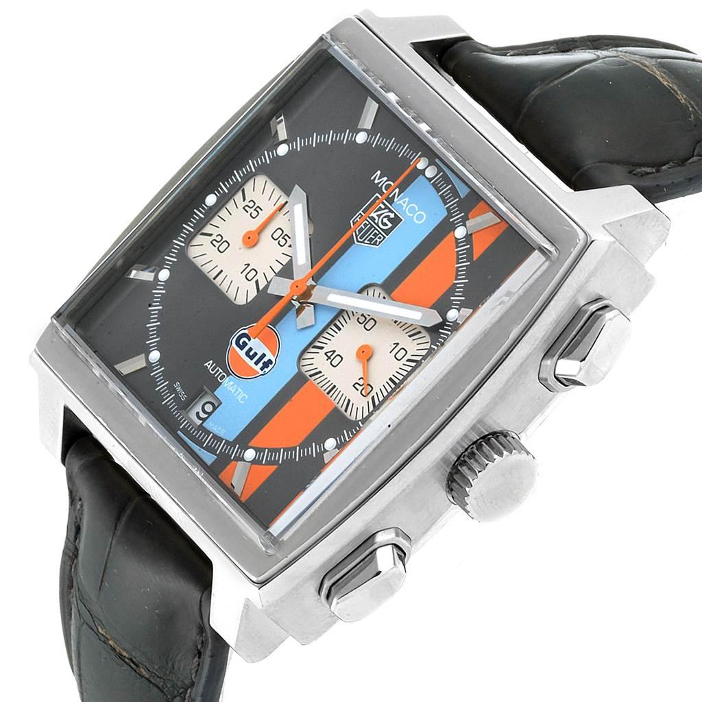Tag Heuer Monaco Gulf Calibre 12 Chronograph Mens Watch CAW2113 SwissWatchExpo