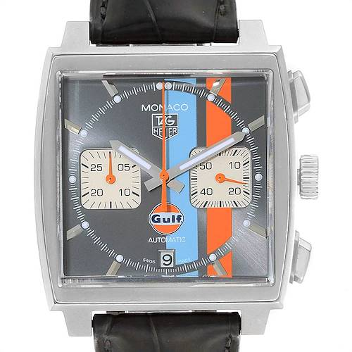 Photo of Tag Heuer Monaco Gulf Calibre 12 Chronograph Mens Watch CAW2113