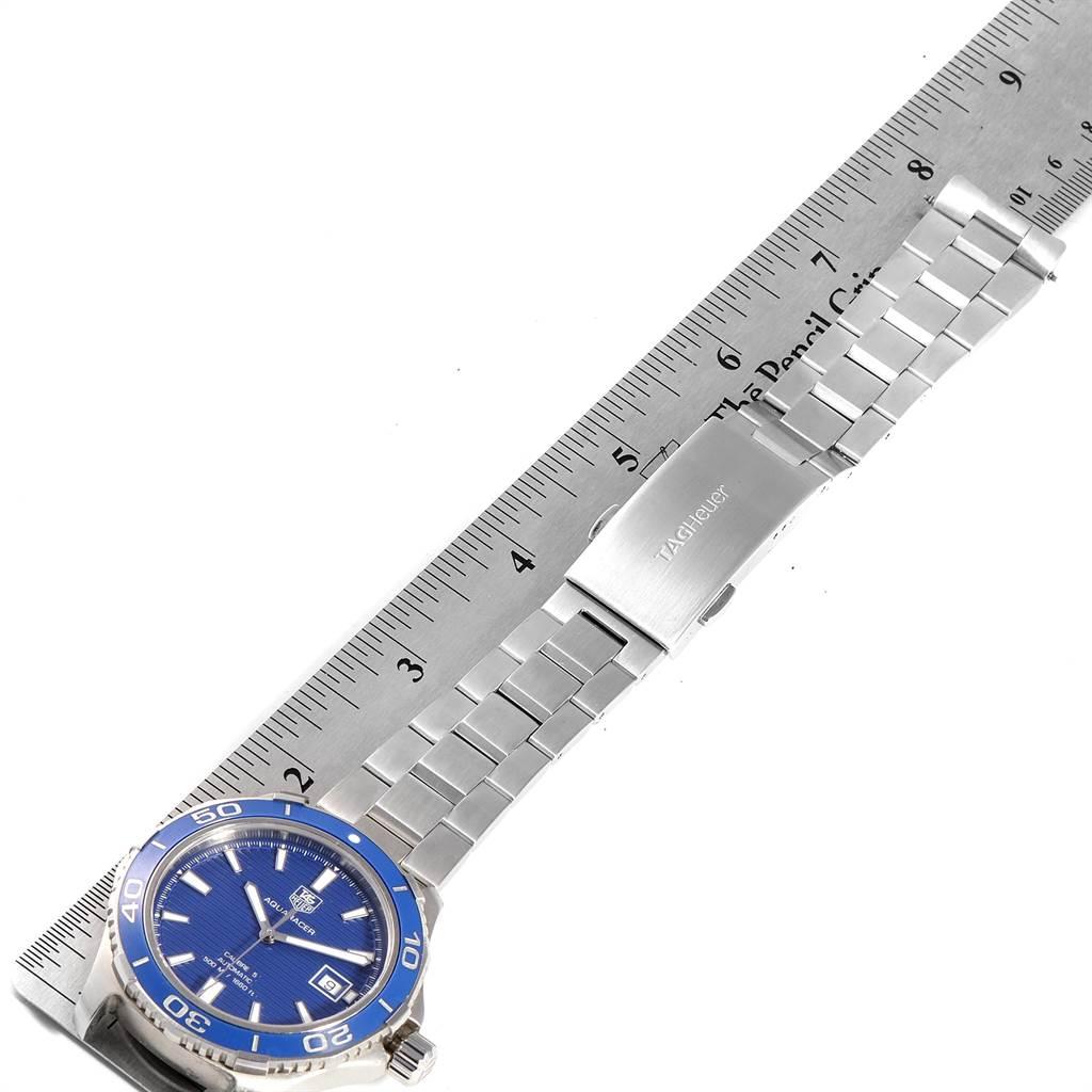 Tag Heuer Aquaracer Calibre 5 500M Blue Dial Steel Mens Watch WAK2111 SwissWatchExpo