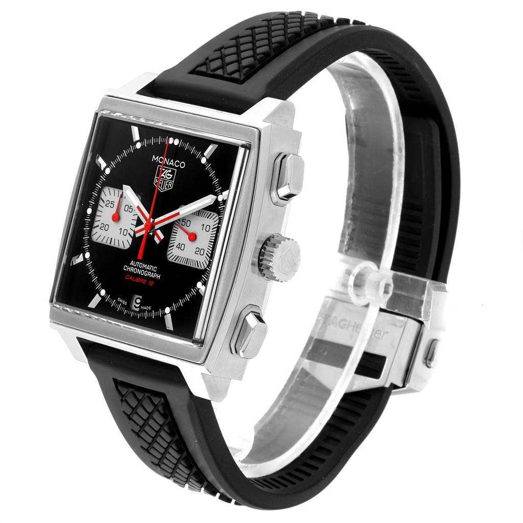 23591 Tag Heuer Monaco Steve McQueen Edition Mens Watch CAW2114 Box Card SwissWatchExpo