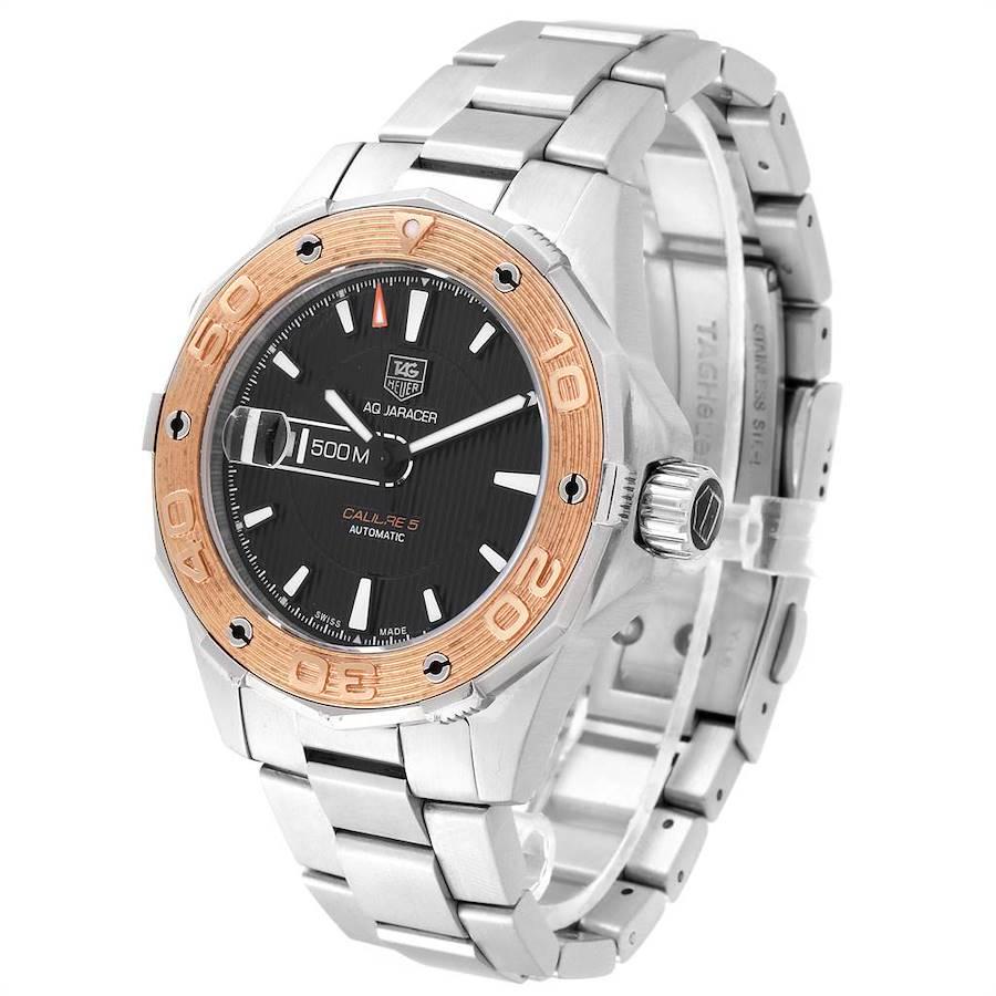 Tag Heuer Aquaracer Steel 18K Rose Gold Mens Watch WAJ2150 SwissWatchExpo