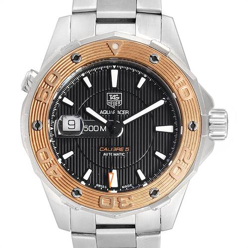 Photo of Tag Heuer Aquaracer Steel 18K Rose Gold Mens Watch WAJ2150