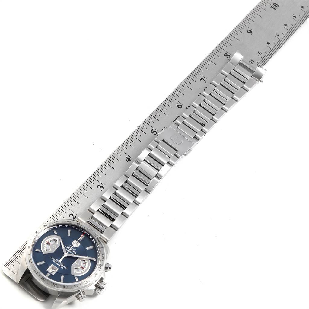 Tag Heuer Grand Carrera Blue Dial Limited Edition Mens Watch CAV511F SwissWatchExpo