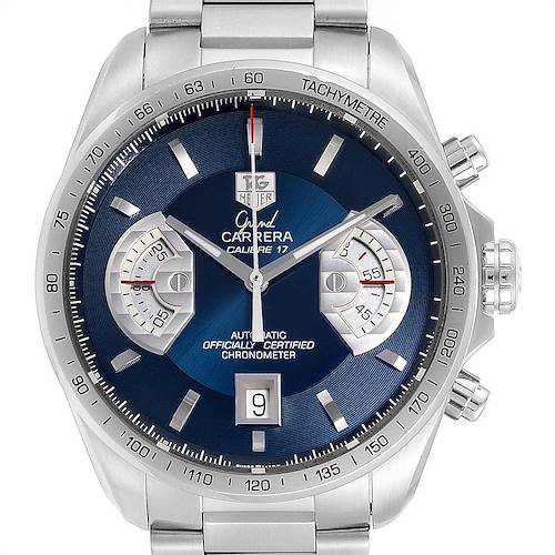 Photo of Tag Heuer Grand Carrera Blue Dial Limited Edition Mens Watch CAV511F